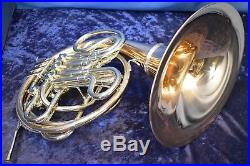 Conn 8DRS (8D with Rose Brass Screw Bell) Double French Horn withCase, Mouthpiece