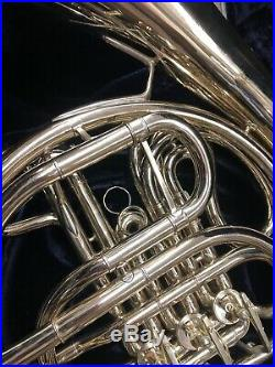 Conn Double French Horn Model 8D Professional Silver With Original Case I-575