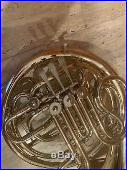 Conn Elkhart Connstellation 8D Double French horn nickel silver with Case