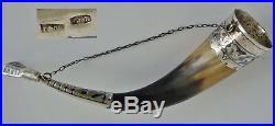 Corne et Argent Niellé Russe 875 Russian Horn with Silver