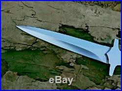 Custom Hand Made 12 Chromium Steel 14 Hunting Knife With Leather Sheath