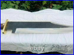Custom Handmade Carbon Steel 25In Bowie Knife with Stag Horn Handle