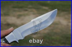 Custom Handmade D2 Steel Blade Hunting Knife with Sheep Horn Handle By Ma-n-Pa