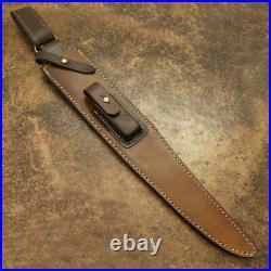 Custom Handmade D2 Steel Hunting Knife with Beautiful Buffalo Horn Handle