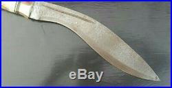 Custom Handmade Damascus Steel Kukri Knife With Leather Sheath(007)