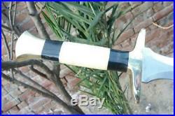 Custom Handmade Steel KATANA TANTO Short Sword With Best Leather Sheath