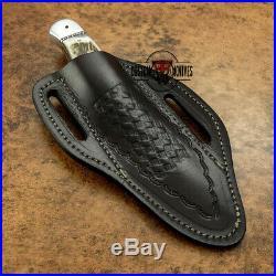 Custom Made D-2 Tool Steel Stag Horn Loveless Style Skinning Knife With Sheath