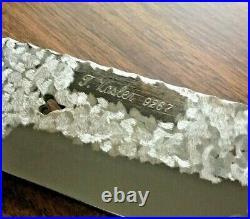 Custom Made Tom Vosler #9267 Signed Hunting Knife With Hand Carved Horn Handle