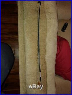 D Z Strad Carbon Fiber Violin Bow Model 550 Silver Mounted with Ox Horn Fleur de