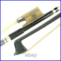 DZ Strad Model M4 Silver-braided Carbon Fiber Bow with Ox Horn Parisian Eye Frog