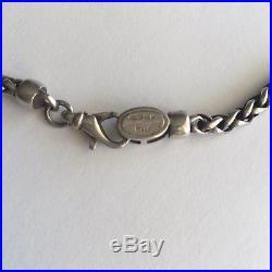Designer FLLi Menegatti Sterling Silver / 18k Gold Necklace With Italian Horn