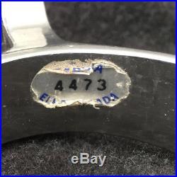 E Garcia, Elko Nevada Silver Inlay Spurs with Broken Horn Silver Straps