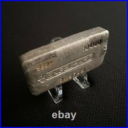 Engelhard Bull Horn 10 oz Silver Bar with Serial Number