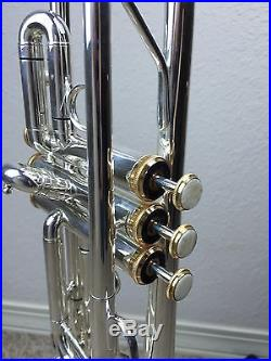 Factory Second Wisemann DTR-500SP New C Silver Trumpet with Gold Trim Horn