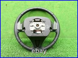 Fit Dba-Ge8 Steering Wheel Razor Black/Silver With Horn Pad Srs Removed