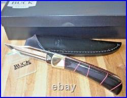 Fixed Blade Buck Knife 110 With Buffalo Handles Custom Joe Houser
