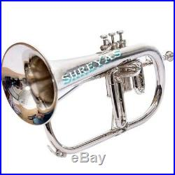 Flugel horn 3 valve new polish of Nickel Plated Bb pitch with Fast Ship SKT327