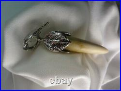 GUCCI Anger Forest Horn Pendant NEW WITH TAG. Sterling Silver 925