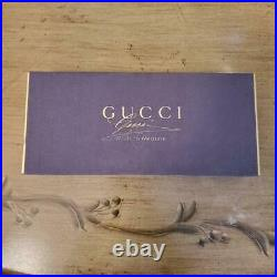 GUCCI Engraved Metal SHOE HORN with Signature Horse Bit Silver Shoehorn