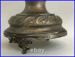 German Drinking Horn Austrian Presentation with Silver Fittings