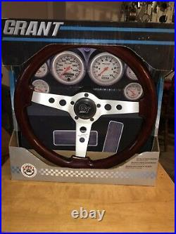 Grant 714 Formula GT mahogany Steering Wheel with horn button and mount adapter