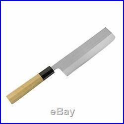 HONMAMON Japanese Nakiri Kknife Powdered HSS 165mm with Octagonal Handle