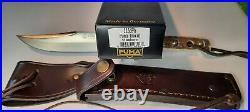 Handarbeit Puma Handmade Knife 116396 NIB Stag Handle with Leather Sheath