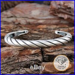 Handmade 925 Silver Bracelet With Oxidite (horn Bracelet)
