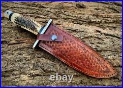 Handmade Hunting Bowie Knife Pig Sticker Knife Handmade Knife With Sheath