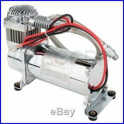 Heavy Duty Air Compressor 12v 150 PSI With 1/4 Hose Kit For Train Horns Bag