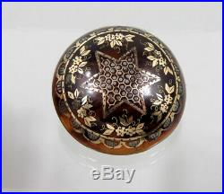 Historicism Brooch Horn With Gold and Silver Inlay Um 1880 Flowers Decor