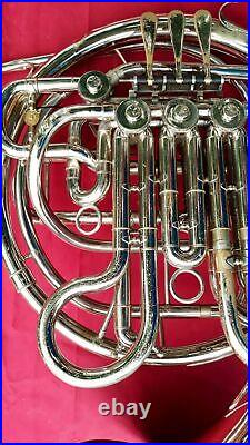 Holton H179 Double French Horn Elkhorn Wi. Serial #605902 With Carry case