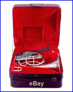 Horn Mellophones Professional Silver French Horn Bb with box Best Gift Christmas