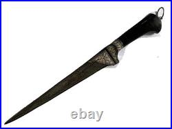 Indo Persian Silver Work Damascus peshkabj knife Dagger 15 inches with sheath
