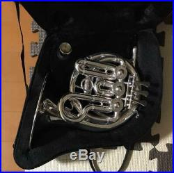 J. Michael Silver Pocket Horn PFH-550S With Hard Case Wind Instrument Hobby