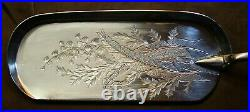 JAMES DIXON & SON 1832 Silver Fine spoon-tray with horn handle