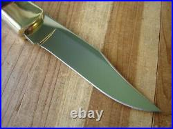 Joe Houser Fixed Blade Buck Knife 110 With Buffalo Handles