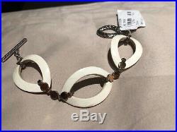 John Hardy 18 K dot Gold & Silver Link Bracelet with Buffalo Horn, $795