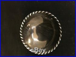 John Hardy Buffalo Horn Center bowl with Sterling Ribbon Stitching