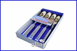 Kirschen 1181000 Firmer Chisel Set with Horn Beam Handle, Beige/Silver, Set o