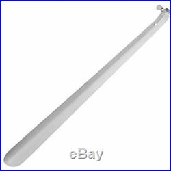 Long Metal Shoe Horn, Stainless Steel Shiny Silver Boots With Loop Handle For