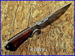 Louis Salvation Hand Engraved Hunting Dagger Knife With Ash Wood Handle