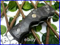Louis Salvation Handmade D2 Steel Etching Hunting & Bowie Knife With Ram Horn Hd