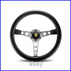MOMO Prototipo Silver Steering Wheel Fits Porsche PRO35BK0S With Horn Button