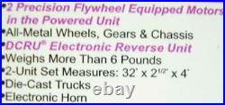 MTH 30-2145-0 O Santa Fe RDC Budd Car Set with 3-Rail Horn (Set of 2) EX/Box