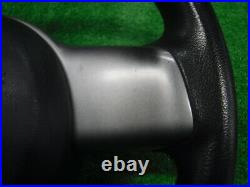 Mazda Demio De3Fs Genuine Steering Black Silver Made Of Urethane With Horn Pad