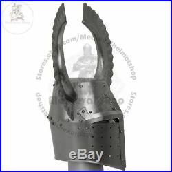 Medieval helmet templar crusader knight with metal horn Christmas gift item