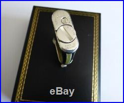 Mint Dunhill Unique Mini Lighter Faux Horn With Silver Plated Trim Boxed