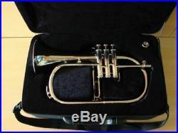 NEW BEST ROCKING SALE Pocket New Silver Bb Flugel Horn With Free Hard Case