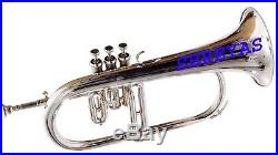 NEW BRAND Flugel horn 3 valve new polish of BRASS Plated Bb pitch with SKT145